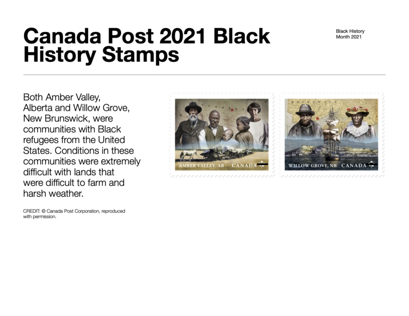 BHM-Canada Post 2021 Black History Stamps