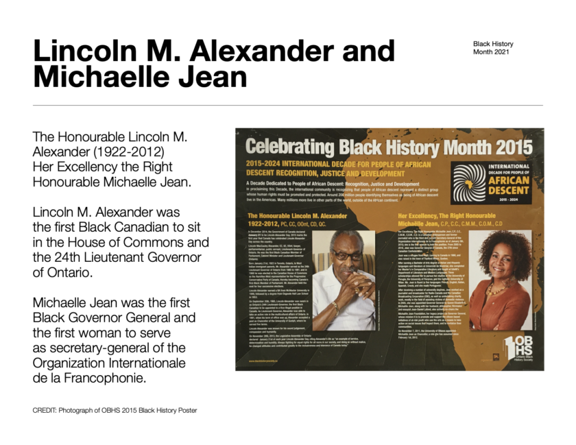 BHM-Lincoln M. Alexander and Michaelle Jean
